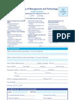 Admission Form 2012 Undergraduate Programs