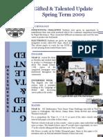 Bulletin Spring Term 2009
