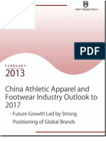 China Athletic Apparel and Footwear Industry to reach USD 32 billion by 2017