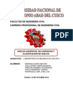 Sueloa Cohesivos y Clasificacoon