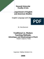 Traditional vs. Modern Teaching Methods - Masaryk University