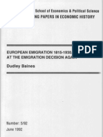Dudley Baines_European Migration 1815_1930