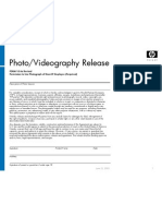 HP Photo Release Form