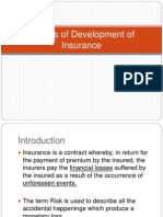 Phases of Development of Insurance