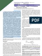 Bioequivalence Study of Troxipide