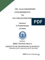 26611817 Industry Analysis on Ice Cream Industry