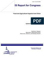 CRS Report For Congress Order Code RL34080 Food and Agricultural Imports from China Updated September 26, 2008