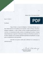 Carta Bergoglio