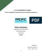 Contemporery Issue on FDI in Retail Inmdustry