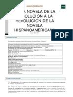 DE LA NOVELA DE LA REVOLUCIÓN A LA NOVELA HISPANOAMERICANA
