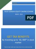 Rajiv Gandhi Equity Saving Scheme RGESS