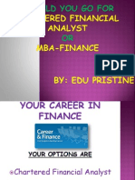 CharterChartered Financial Analyst Vs MBA-Financeed Financial Analyst vs MBA-Finance