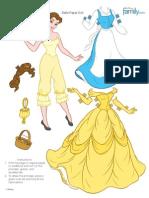 Princess Belle Paper Doll Printable 0511