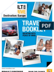 Short Term Car Lease in Europe Travel Booklet 2013