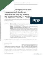A Qualitative Enquiry Among the Legal Community of Pakistan EJCRHC_2011_Azmat SK Et Al