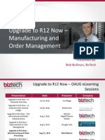 Upgrade Manufacturing and OM