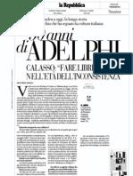 Roberto Calasso intervistato da Antonio Gnoli, cinquanta anni di Adelphi