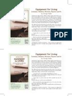 """""""Equipment for Living"""" Book Flyer"""