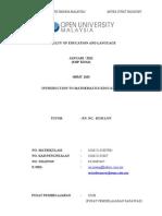 Hbmt 1103 Pengenalan Pengajian Matematik