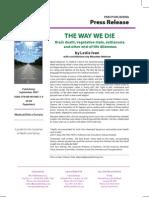"""""""The Way We Die"""" Press Release"""