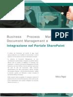 Integrazione Document Management e Business Process Managemement nel portale SharePoint