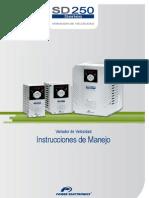 Power Electronics SD250 - Instrucciones de Manejo