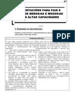 ORIENTACIÓNS ALTAS CAPACIDADES