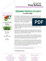 """Feeding People is Easy"" Press Release"