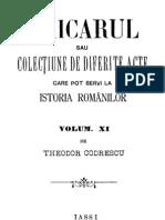 Th. Codrescu - Uricarul, Vol 11 (1387-1889)