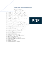 List of Mini Projects