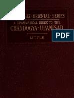 A grammatical word index to chhandogya upanishad