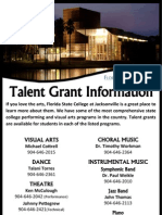 FSCJ Talent Grant Contact