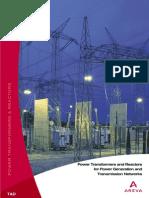 ArevaTD PowerTransformersReactors PTR Overview Eng
