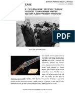 """Gavin Gardiner Ltd To Sell Highly Important """"Russian"""" Purdey Presented To British Prime Minister Harold Macmillan By Russian President Krushchev At Sotheby's On April 1"""
