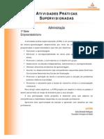 Administracao - Empreendedorismo - Atividades Praticas Supervisionadas