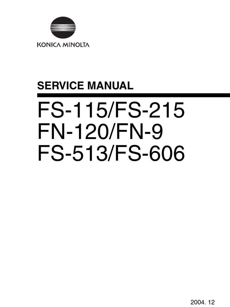 Konica Minolta 1493 Service Manual | Mechanical Engineering | Manufactured  Goods