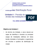 U04 Previsao de Cargas e Divisao Das Instalacoes Eletricas