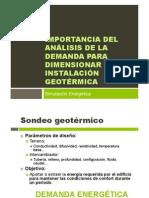 Importancia del análisis de la demanda para dimensionar una instalación geotérmica