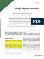 Depersonalization Disorder a Functional Neuroanatomical