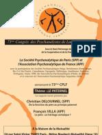 O Paterno - 73º Congresso de Psicanalistas de Língua Francesa 2013