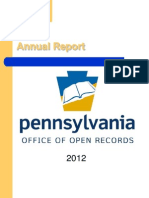 The Pa. Office of Open Records Annual Report 2012