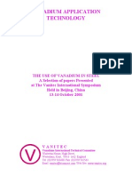 The Use of Vanadium