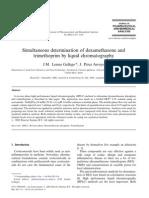 Simultaneous Determination of Dexamethasone and Trimethoprim by Liquid Chromatography