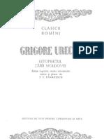 Grigore Ureche - Letopisetul Tarii Moldovei (Ed. Critica P.P. Panaitescu 1958)