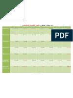 Calendar Postul Mare 2013