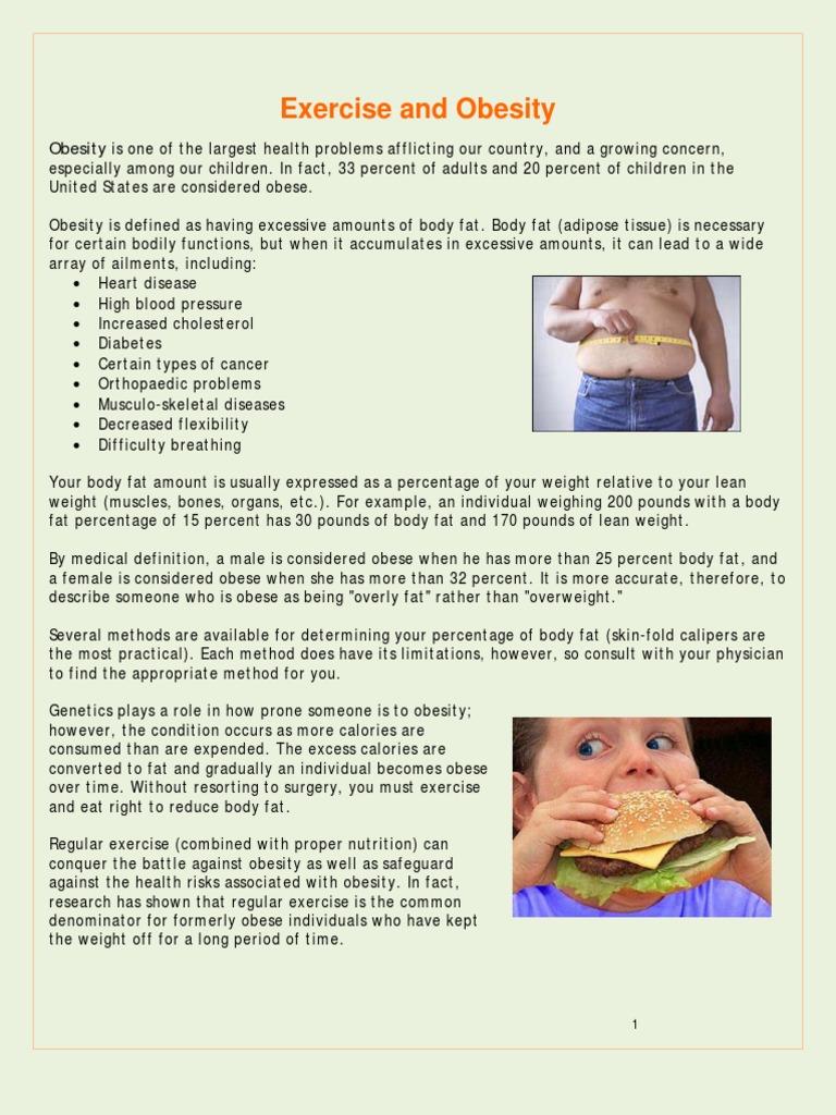 Exercise Obesity | Physical Exercise | Adipose Tissue