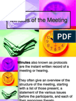 Minutes of the Meeting.ppt