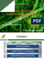 COSTOS DE APLICACIÓN DE INSUMOS EN LA INDUSTRIA AZUCARERA_XIICONIA2012_UNPRG-LAMBAYEQUE