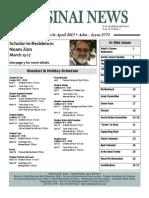 March-April Sinai News 2013