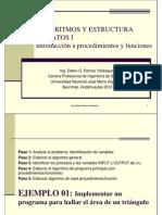 Introducción a procedimientos y funciones